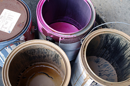 WHERE CAN I THROW MY OLD PAINT AWAY?